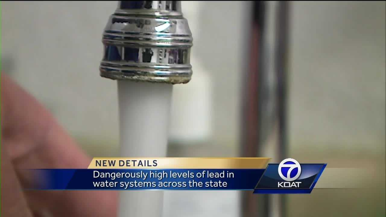 Dangerously high levels of lead in water systems across the state.