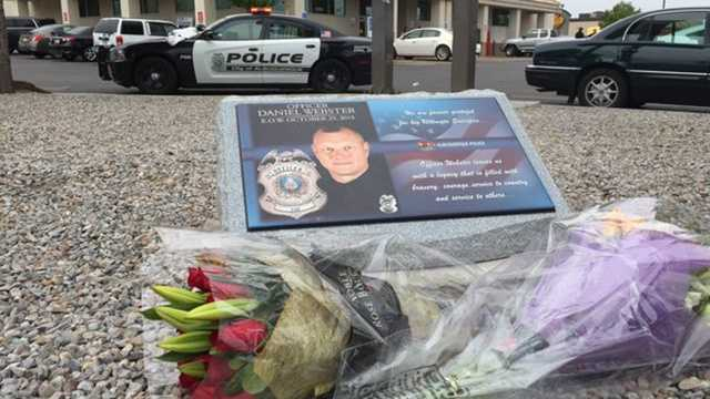 Memorial dedicated to Officer Daniel Webster