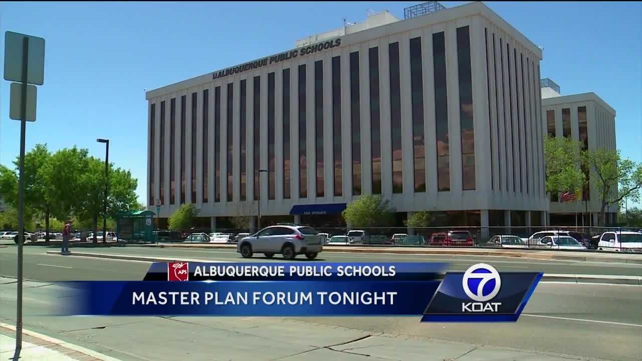 Happening today.  Albuquerque public schools will reveal its master plan to the public.