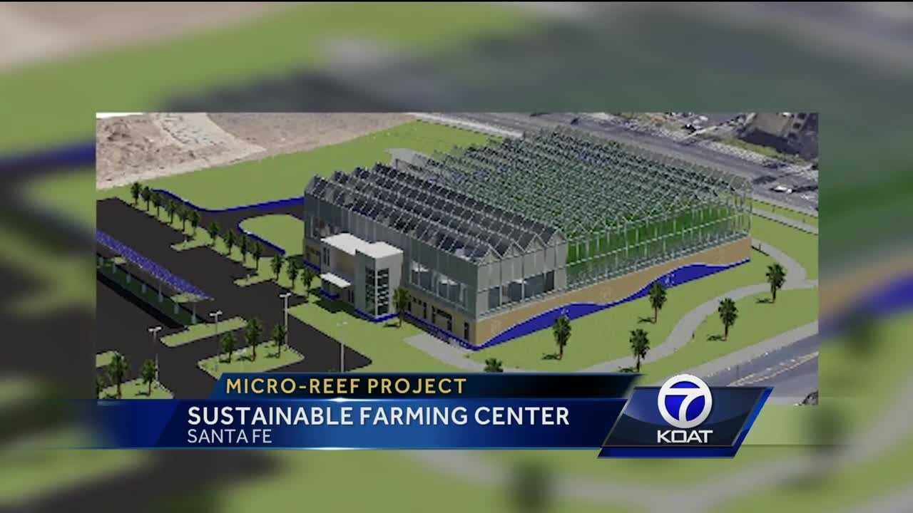 "The Santa Fe Community College plans to build a new small-scale renewable energy farming technology center, known as ""Micro-REEF."""