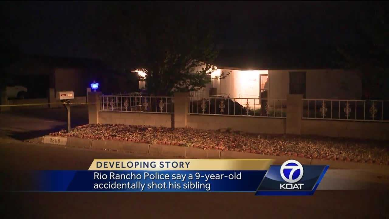 Rio Rancho police said a 9-year-old child accidentally shot their younger sibling in the shoulder with a handgun.