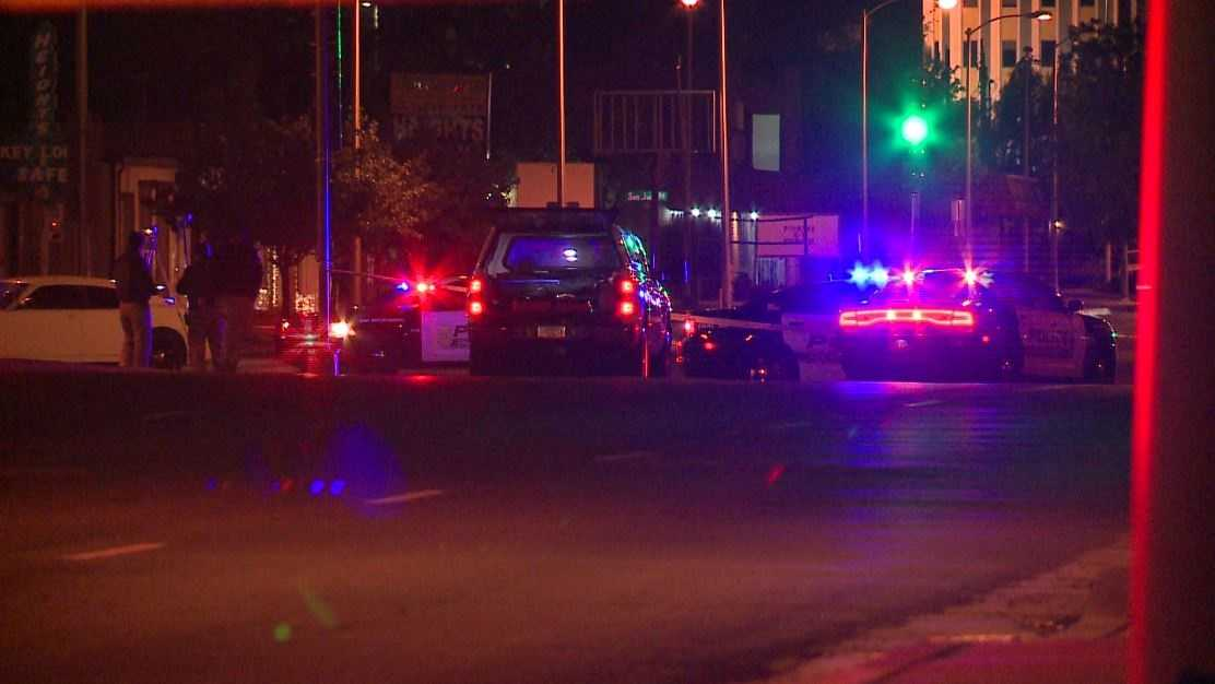 Albuquerque police were dispatched to the intersection of Lomas and San Mateo around 1 a.m.