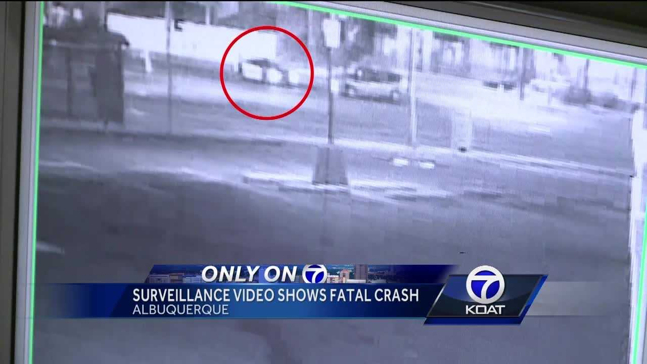 Surveillance Video Shows Fatal Crash