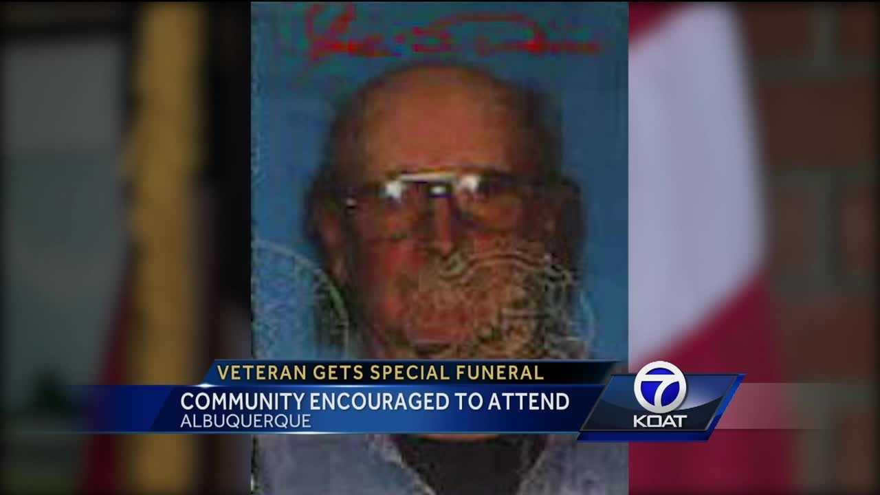 Final preparations are underway for a local veteran's funeral.