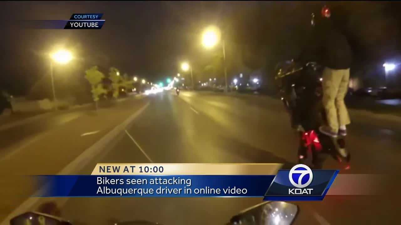 Video: Bikers seen breaking driver's mirror, windshield