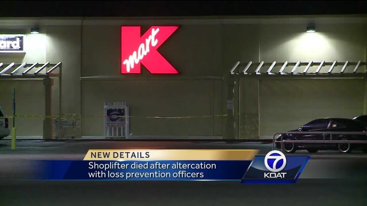 Shoplifter dies after altercation with security