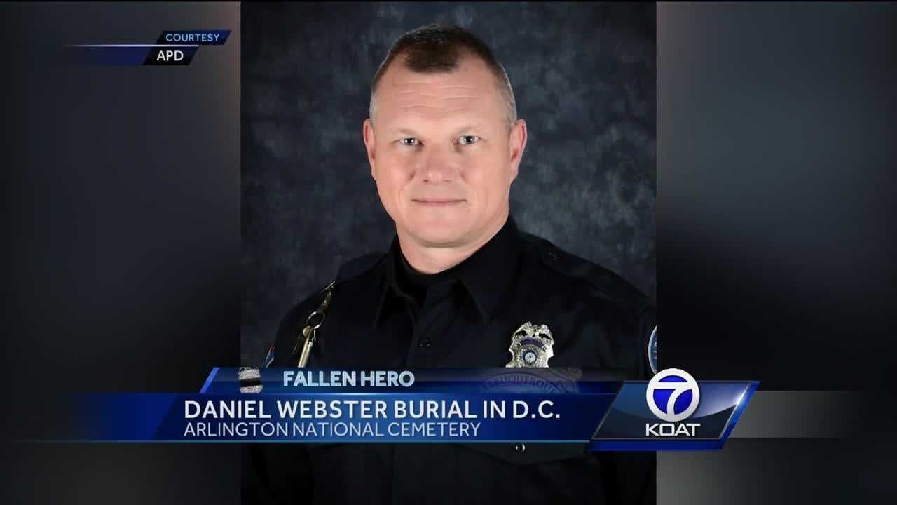 This morning - An albuquerque police officer killed in the line of duty, will be buried at arlington national cemetery.