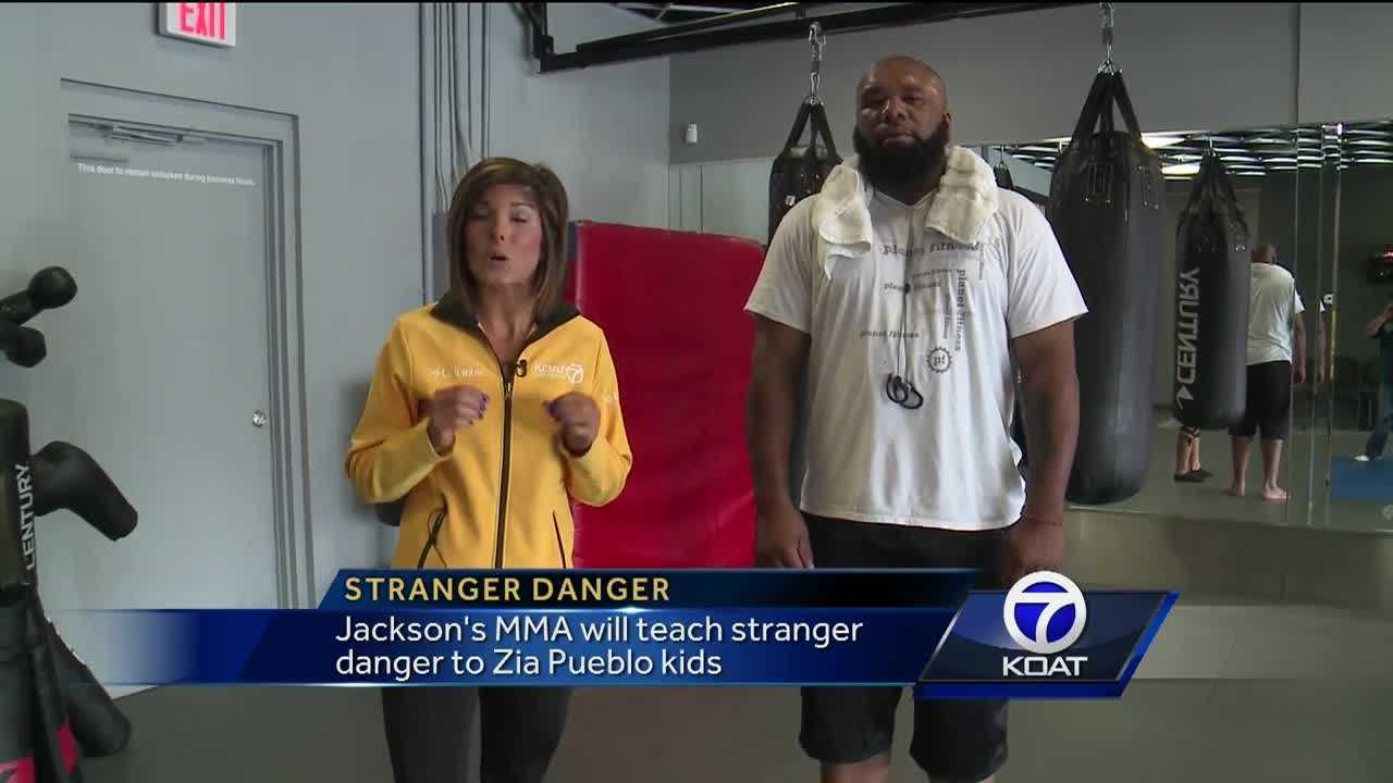Jacksons's MMA will teach stranger danger to the kids on the Zia Pueblo.