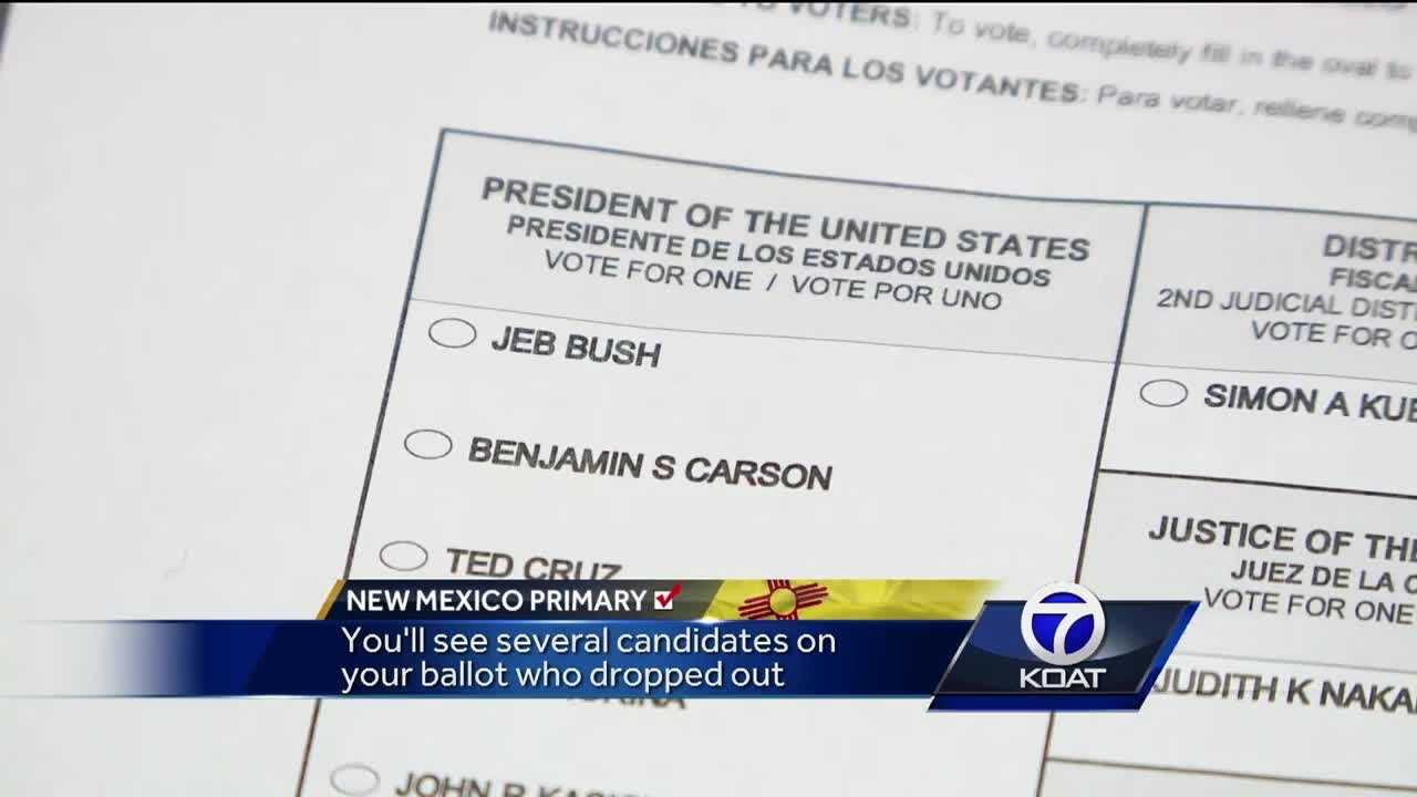 NM Primary voting ballots