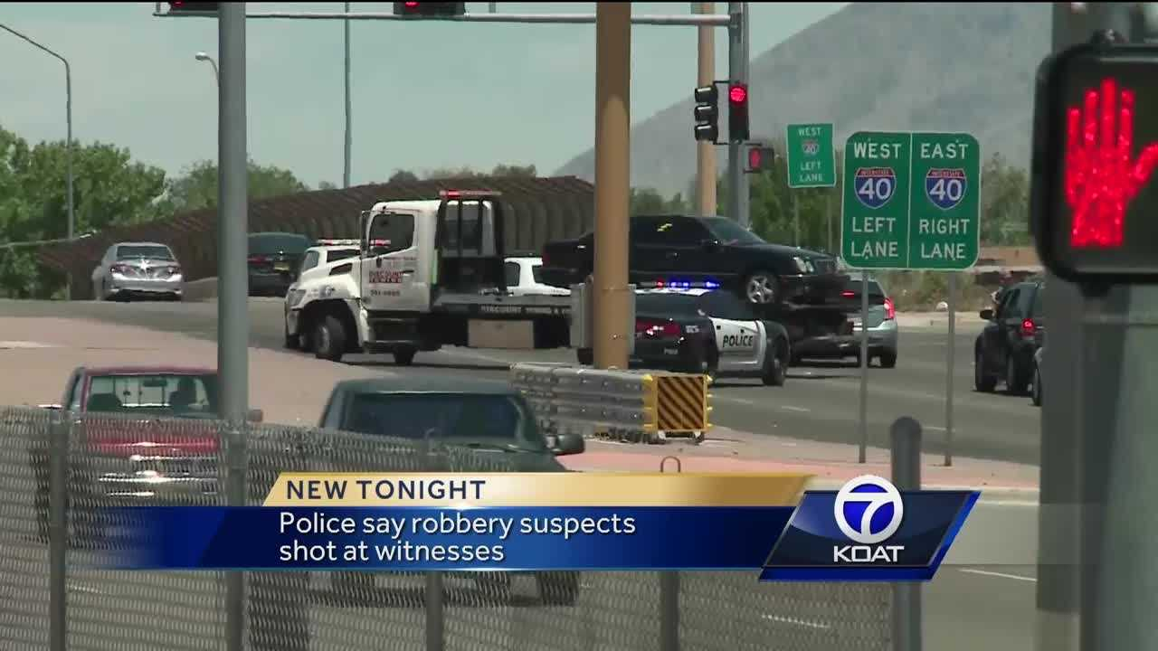 Albuquerque Police say some local citizens took matters into their own hands and followed some would be robbers.