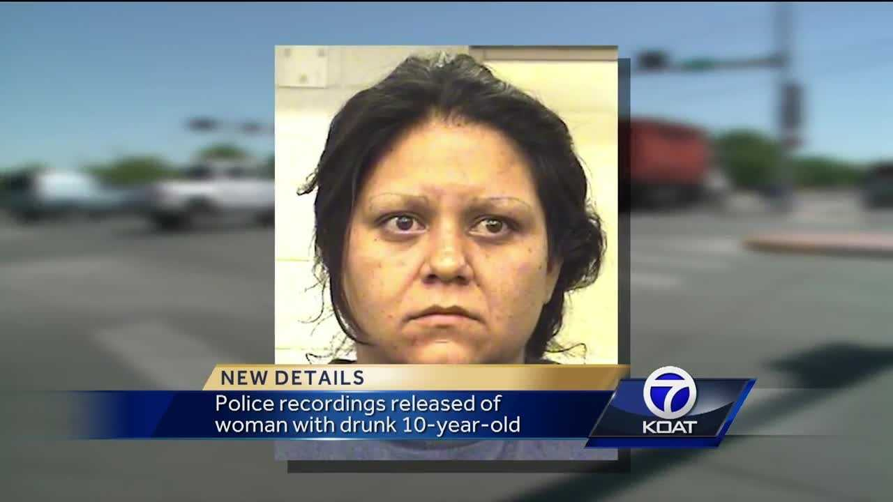 Police recordings released of woman with drunk 10-year-old