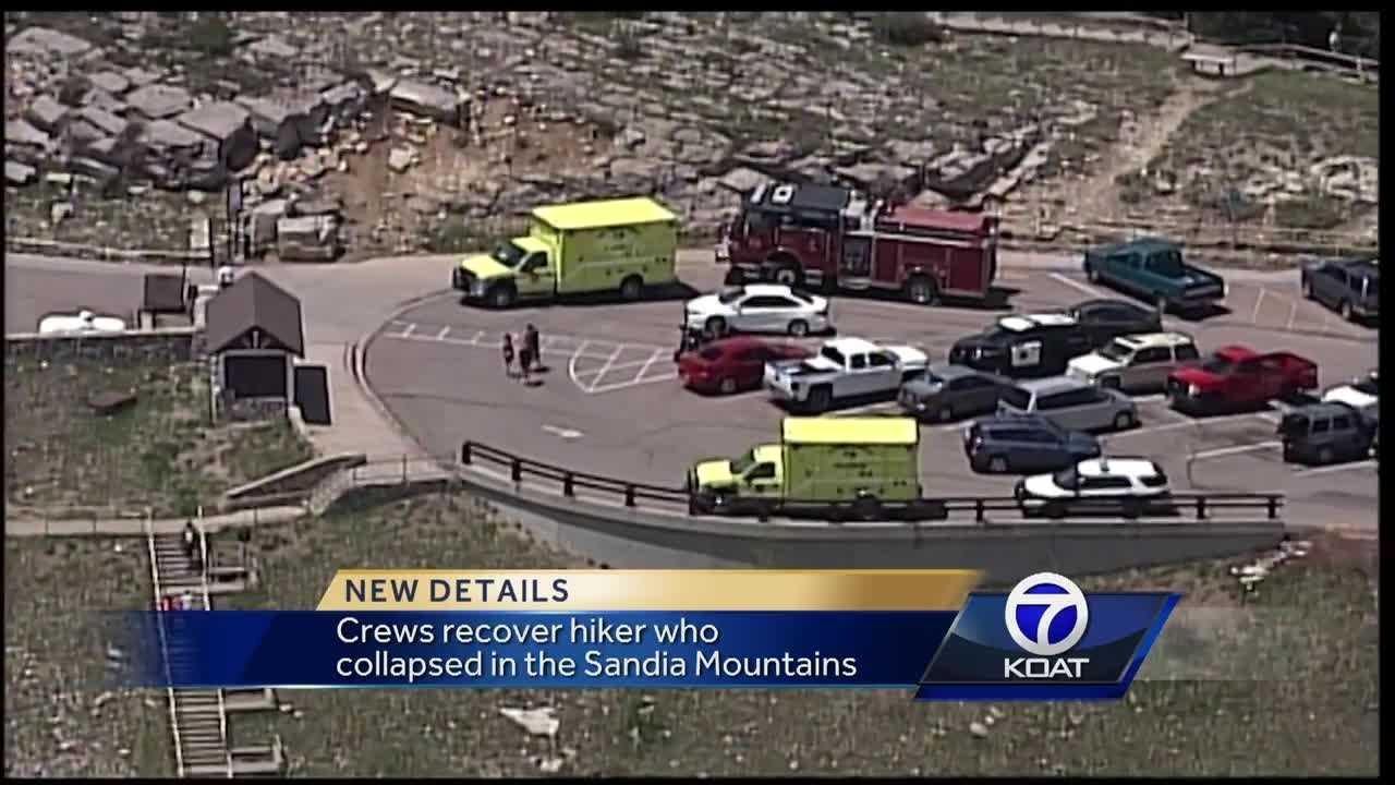 Crews recover hiker who collapsed in the Sandia Mountains
