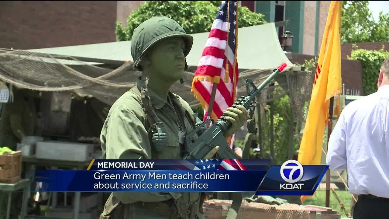 Relatives of service members who died honored their memory on Monday.