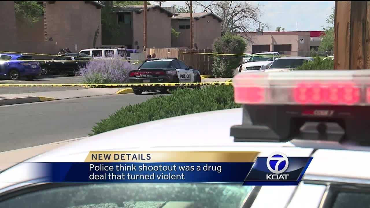 Police think the shoot-out was a drug deal that turned violent.