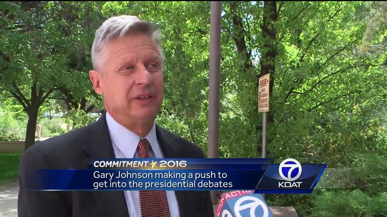 Gary Johnson pushing to get into presidential debates