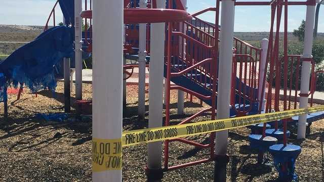 Police search for Rio Rancho playground fire starter