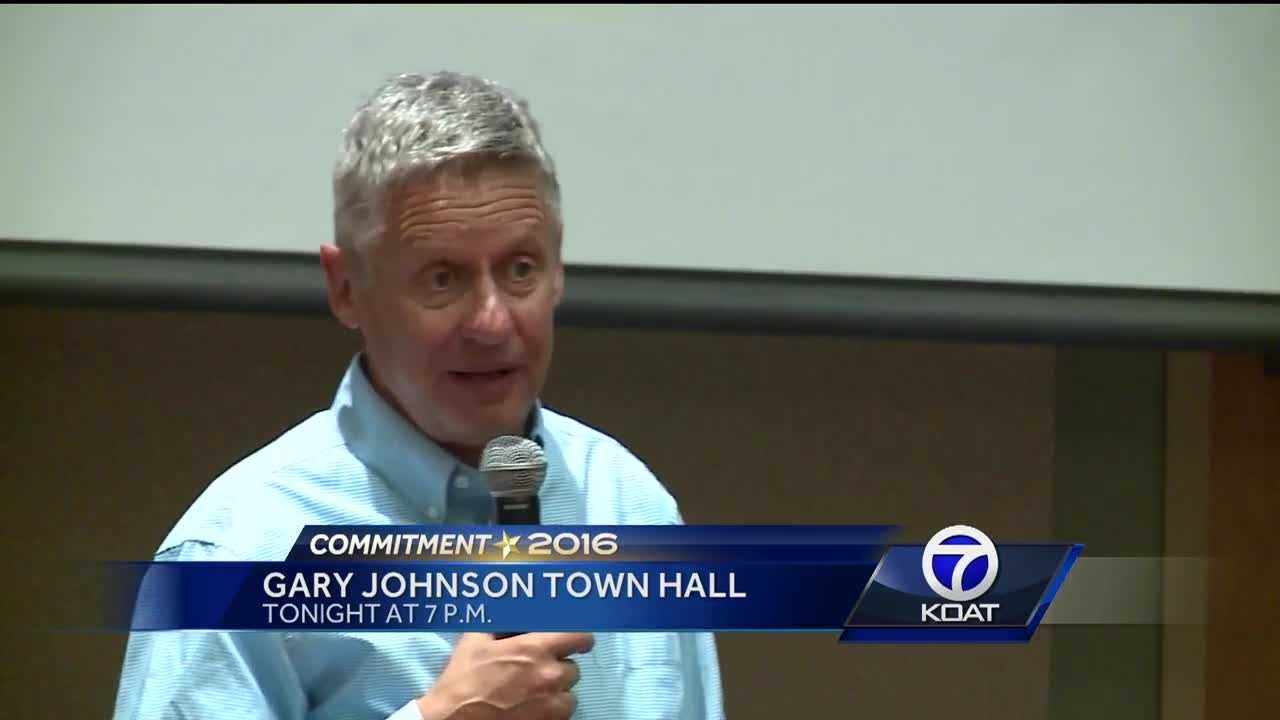 Gary Johnson Town Hall Tonight