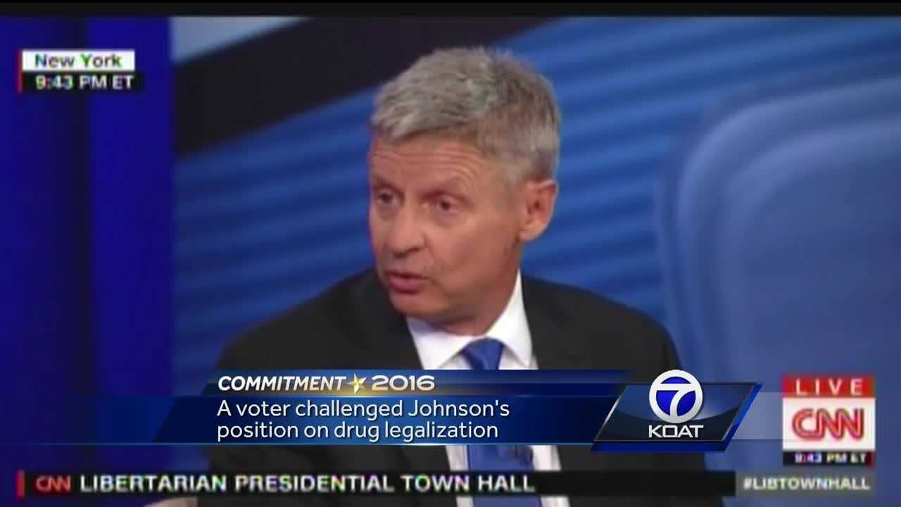 Gary Johnson appears in CNN town hall