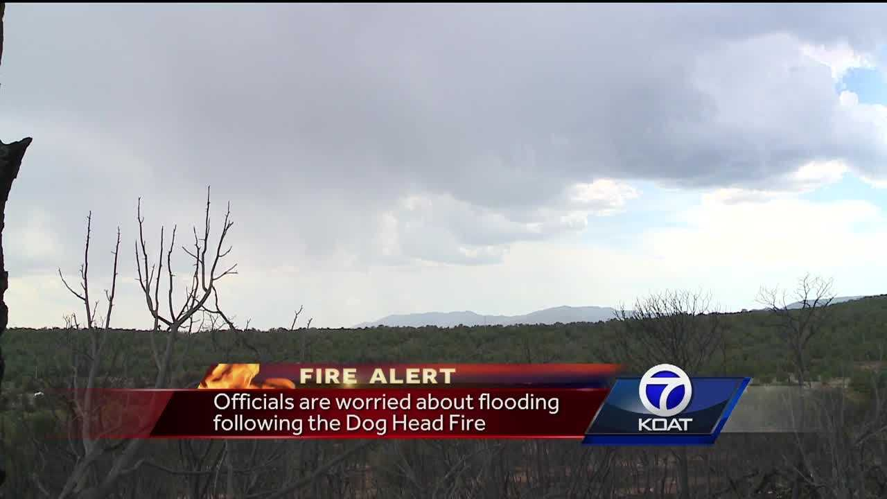 Officials are worried about flooding following the Dog Head Fire.