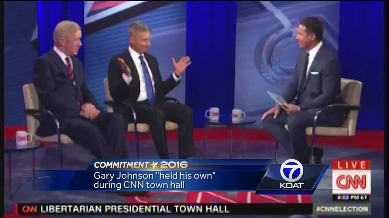 "Gary Johnson ""held his own"" during a CNN town hall."