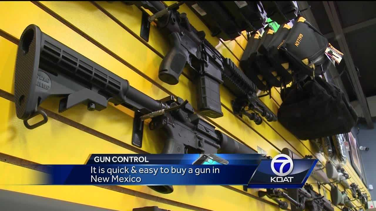it is quick & easy to buy a gun in New Mexico.