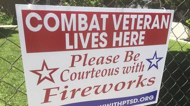 Veterans with PTSD ask neighbors not to launch fireworks