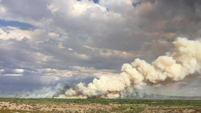 Crews battle Bosque del Apache National Wildlife Refuge fire