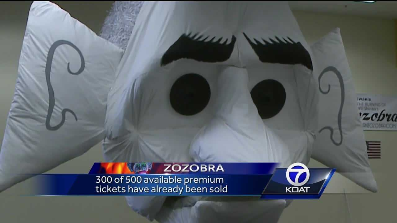 Organizers are offering premium tickets that will be in a private area within a few feet of the Zozobra, the seats cost $25.