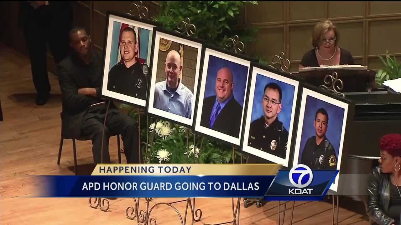 Happening today. Some of our local officers are heading to dallas to pay their respects to their fallen brothers in blue.