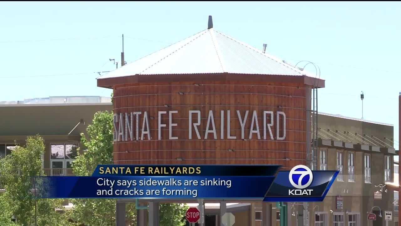 Sidewalks sink and crack at Santa Fe Railyard market