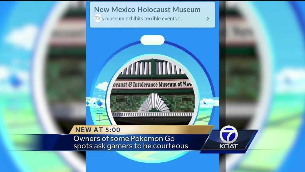 """Many Albuquerque landmarks are getting heavy traffic because of """"Pokemon Go"""" players however, some business owners are asking gamers to be more courteous."""