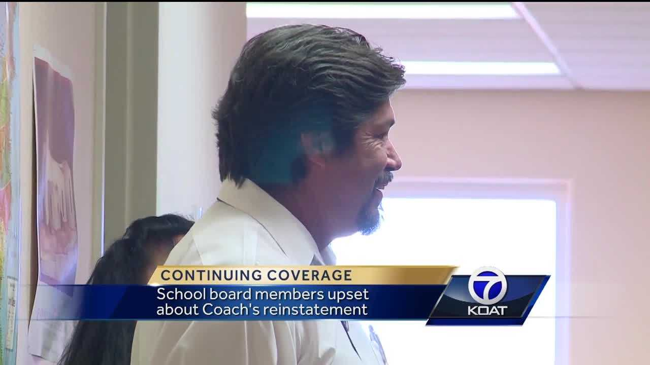 Board members upset over coach's reinstatement