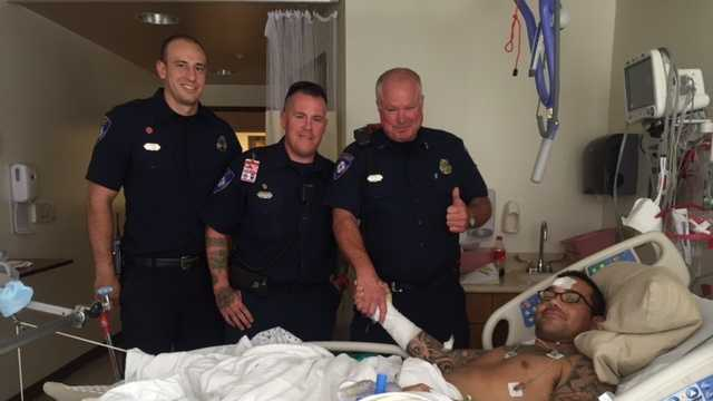 Police chase injures veteran, firefighter-in-training