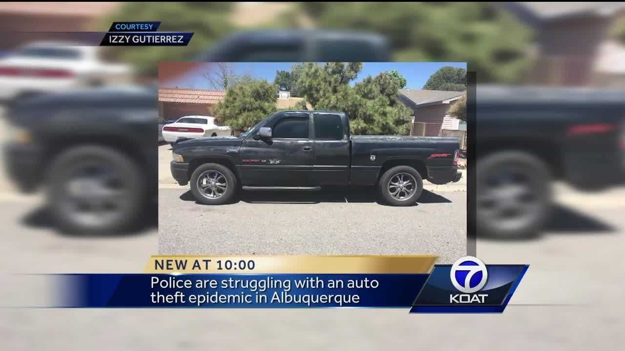 Police are stuggling with an auto theft epidemic in Albuquerque.