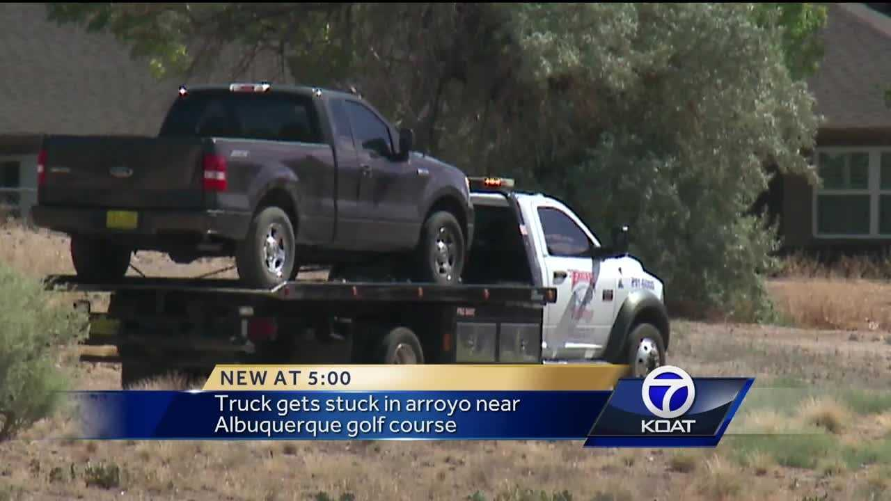 Truck gets stuck in arroyo after woman tries to catch Pokemon