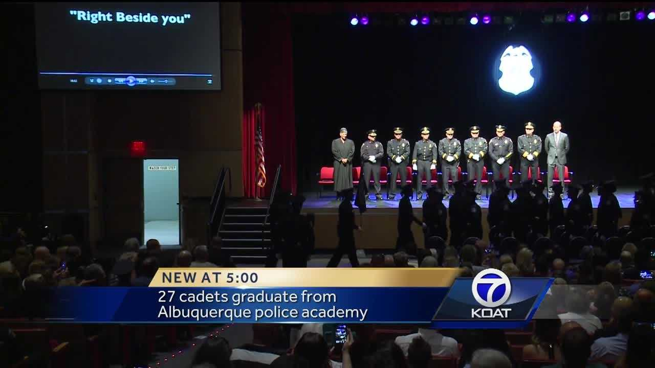 The Albuquerque Police Department celebrated Thursday as 27 cadets crossed the stage and graduated from the academy.