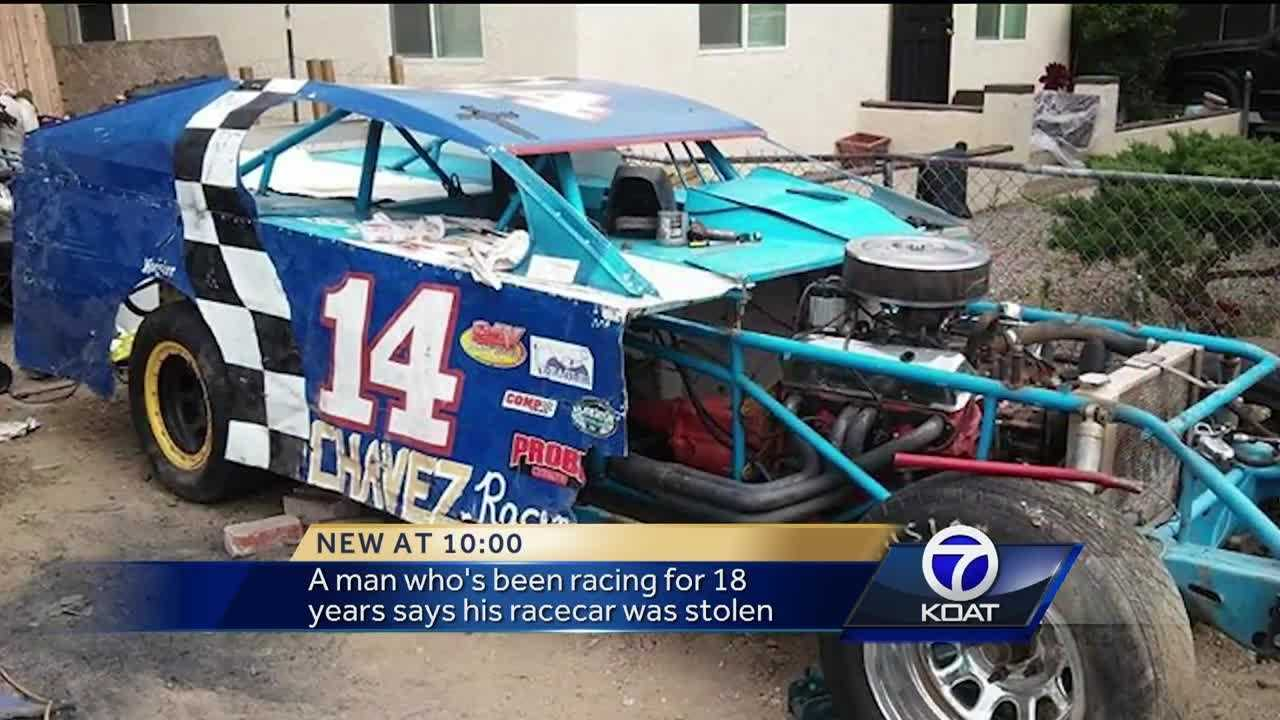 A racecar drover says he feels like part of him is missing after his car was stolen outside his home.