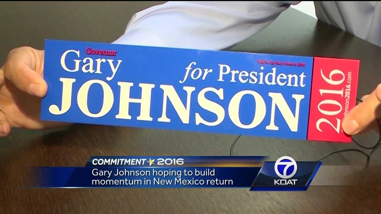 Gary Johnson hopes to build momentum in return to New Mexico