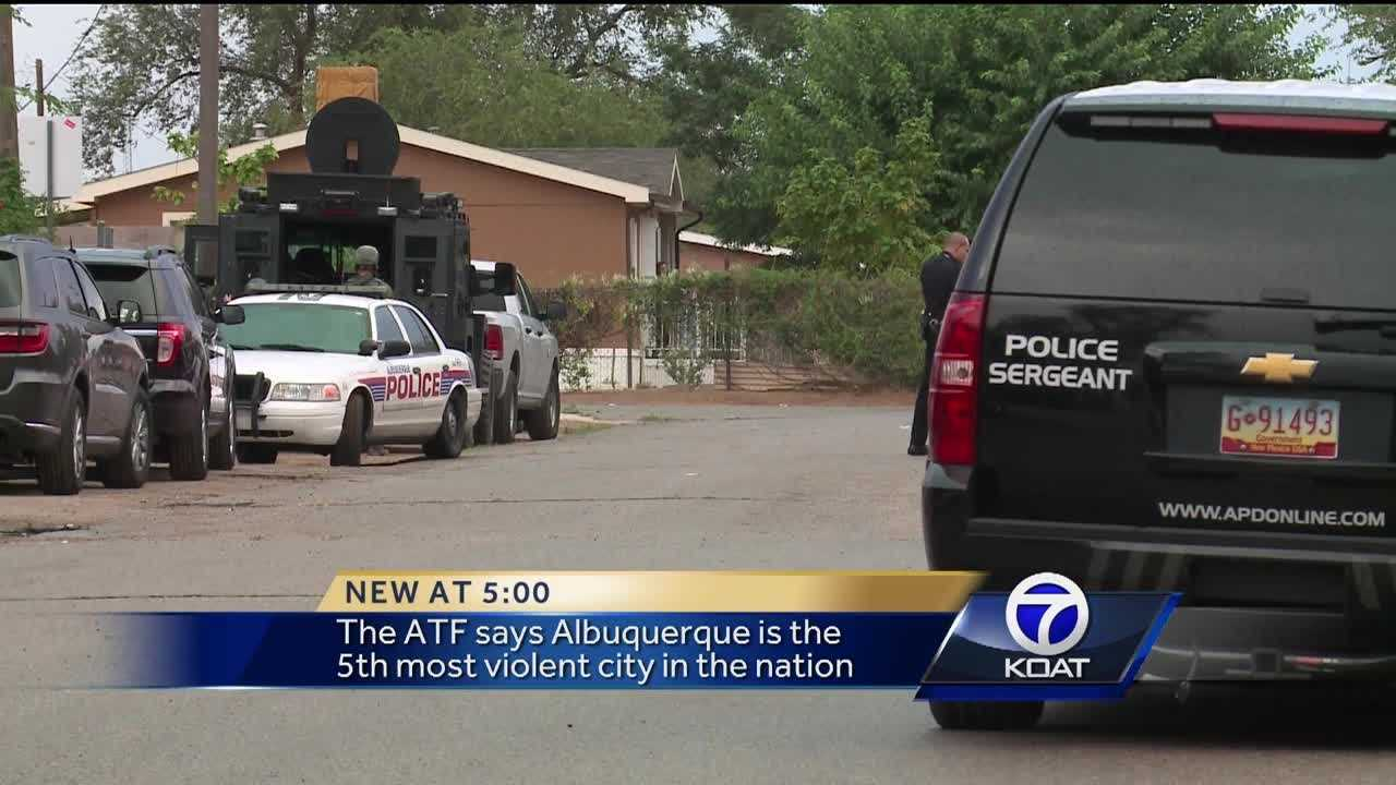 Albuquerque is the 5th most violent city in the nation