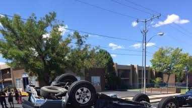 Rollover crash on Montgomery