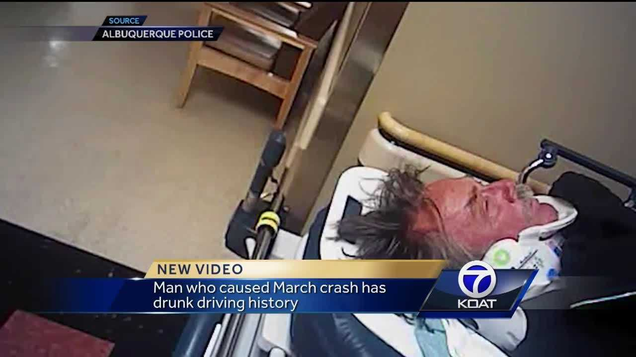 Man who caused crash has a history of drunk driving.