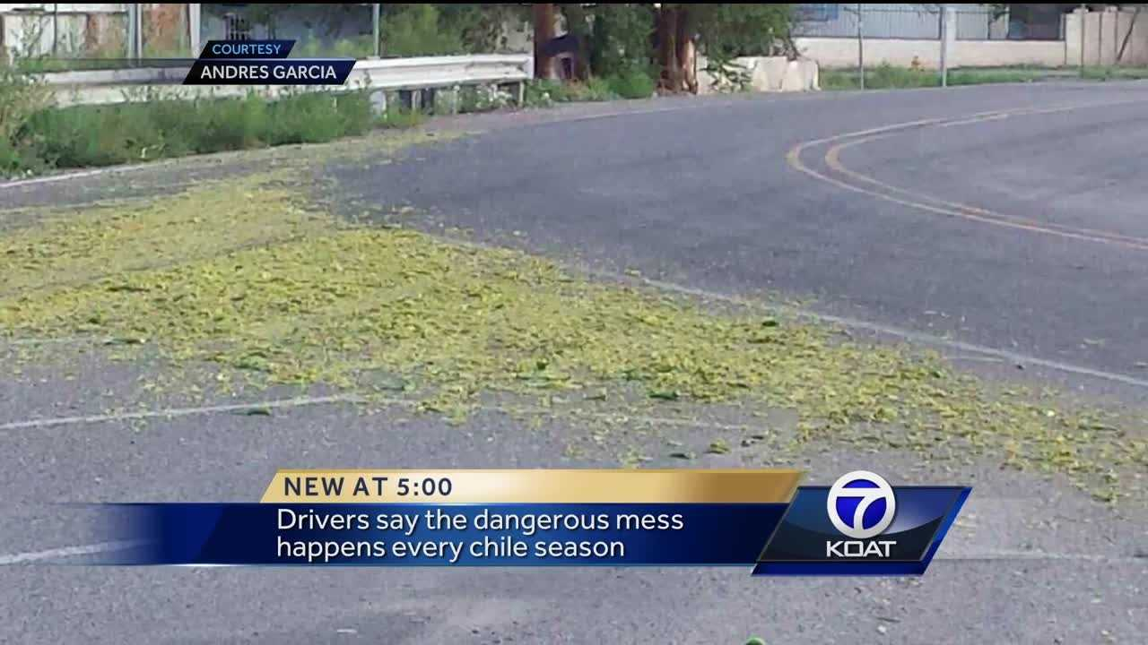 Green Chile causes dangerous mess for New Mexico drivers