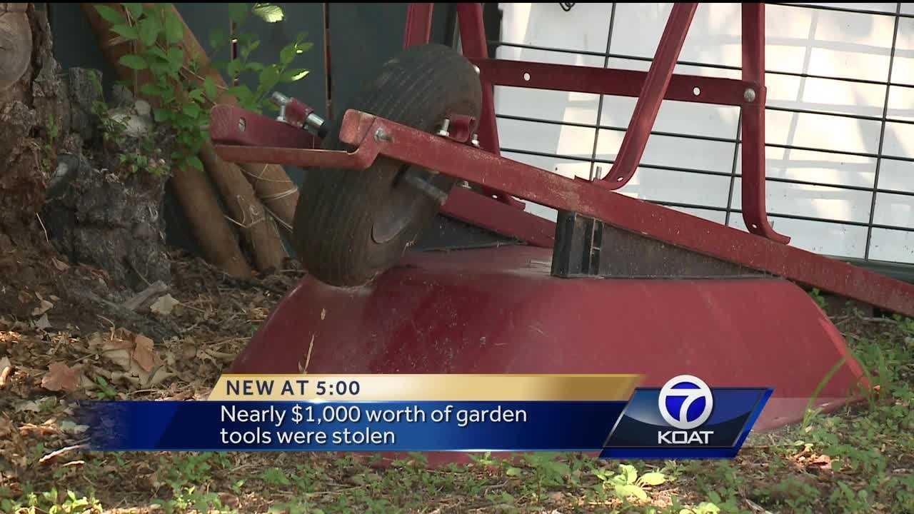 Garden Supplies Stolen