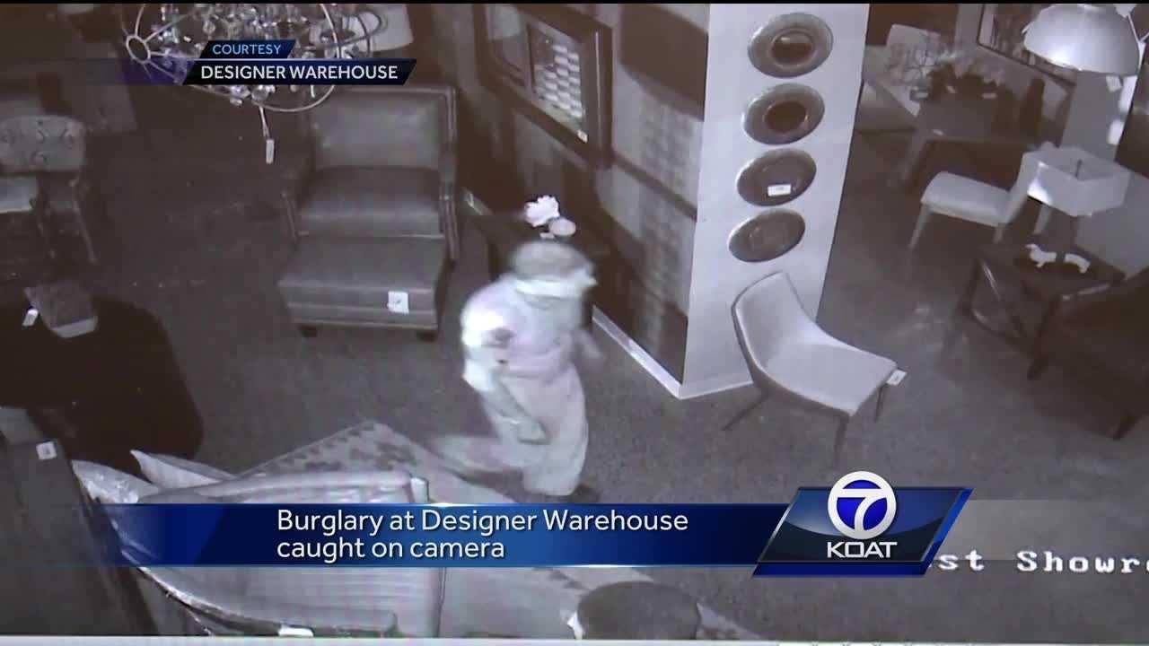 Burglary caught on camera
