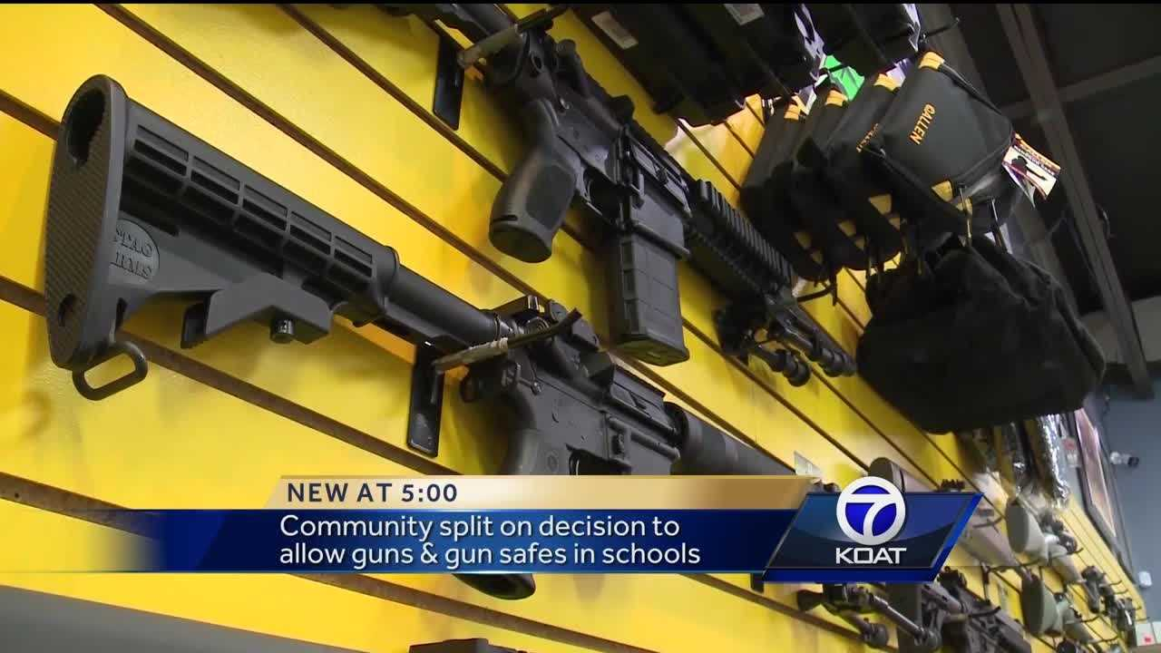Gun safes could be installed by the end of this school year.