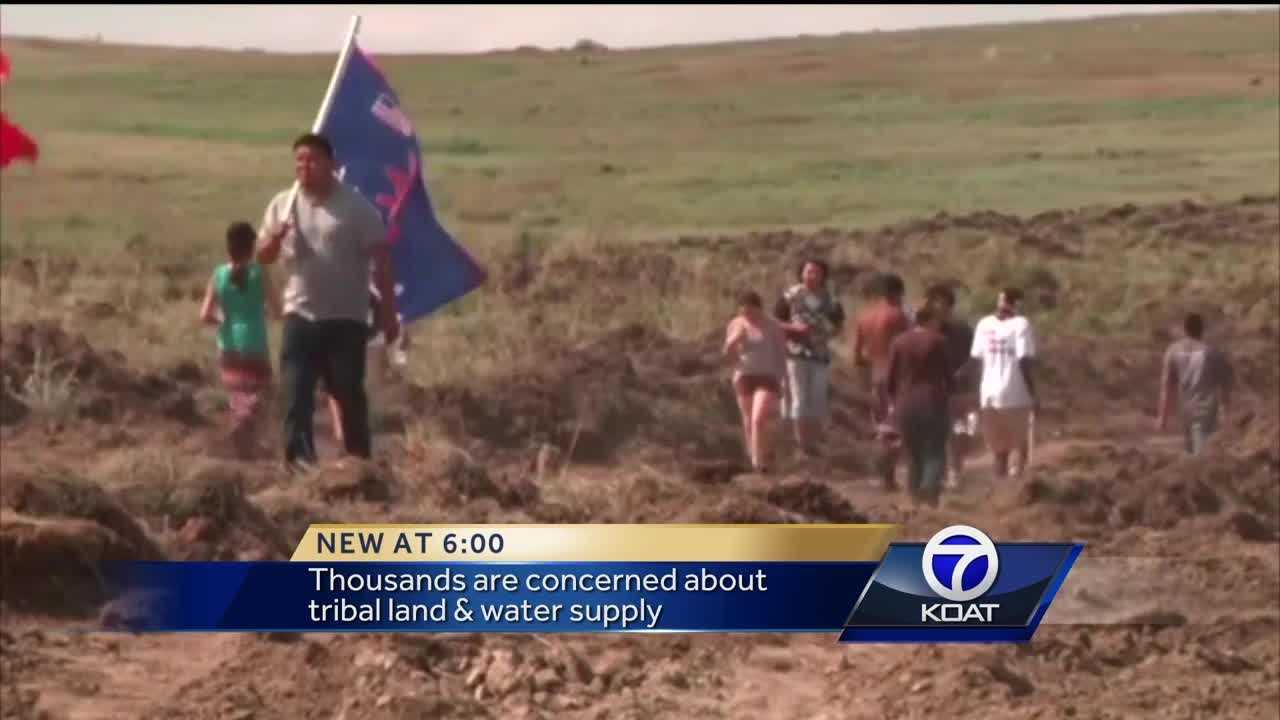 Thousands are concerned about tribal land and water supply.