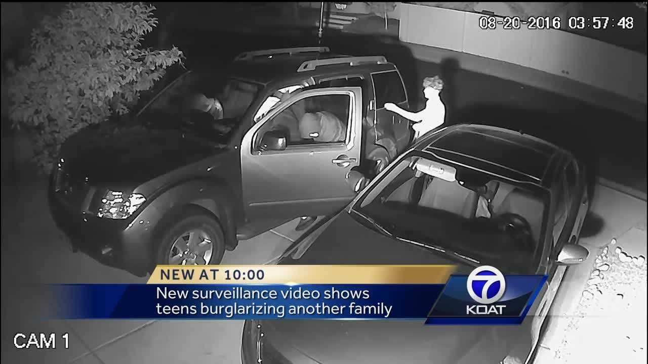 New surveillance video shows teens burglarizing another family.