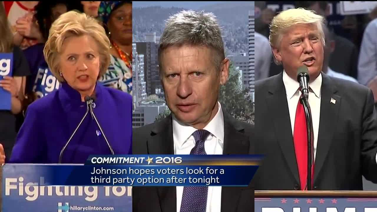 Gary Johnson hopes voters look for third-party option after presidential debate