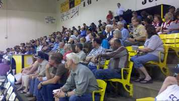Concerned resident gather for a public meeting Tuesday in Raton.