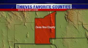 2. Dona Ana County had 1,333 reports of property crime.